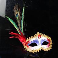 billige -påfuglfjær fjær maske fest ball masquerade masker italiensk prinsesse av Venezia maske kvinne dame bryllup dekorasjon