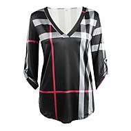 V-hals Dame - Ternet Bomuld T-shirt