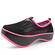 Platform-Talp-Női cipő-Sportcipők-Alkalmi Sportos-Tüll-Fekete Szürke
