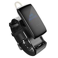Smart bändi talkband bluetooth katsella rannekoru ääni kuulokkeiden digitaalinen ranne kalorit askelmittarin radan kunto nukkua näyttö