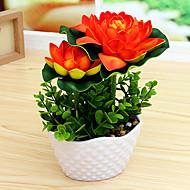 Set of 1 PCS 1 haara Polyesteri Lotus Pöytäkukka Keinotekoinen Flowers 6