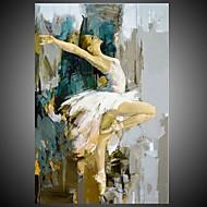 Hånd-malede Mennesker Abstrakt Portræt Vertikal,Moderne Middelhavet Et Panel Kanvas Hang-Painted Oliemaleri For Hjem Dekoration