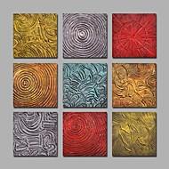 baratos -Pintados à mão Abstrato Quadrangular,Moderno Mais que 5 painéis Tela Pintura a Óleo For Decoração para casa