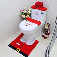 új év legjobb ajándék boldog karácsonyi santa WC-ülőke fedelét& szőnyeg fürdőszoba szett karácsonyi díszek