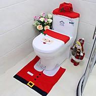 nieuwe jaar beste cadeau Happy Christmas Santa toilet seat cover& tapijt badkamer set kerstversiering