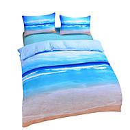 Bettbezug-Sets 3D (Zufallsmuster) 3 Stück Polyester / Baumwolle Reaktivdruck Polyester / Baumwolle 3-teilig (1 Bettbezug, 2 Kissenbezüge)