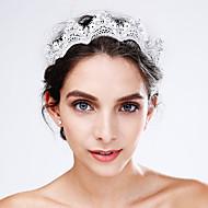 billiga Brudhuvudbonader-Kristall / Spets / Akrylfiber Blommor 1 Bröllop / Speciellt Tillfälle Hårbonad