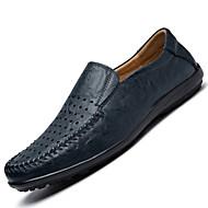 ieftine -Bărbați Pantofi Piele Primăvară / Toamnă Confortabili Mocasini & Balerini Maro / Bleumarin / Kaki