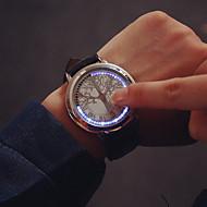 Herre Armbåndsur Unik Creative Watch Digital Touch-skærm LED Læder Bånd Sort