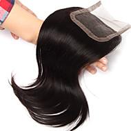 10inch handtied staight vetersluiting onbewerkt haar remy human hair 4 * 4swiss kant