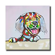 手描きの 抽象画 / 動物 / カートゥン 油彩画,Modern 1枚 キャンバス ハング塗装油絵 For ホームデコレーション