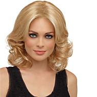 Kvinder Syntetiske parykker Mellemlængde Krøllet Blond Highlighted/balayage-hår Naturlig paryk Kostumeparyk