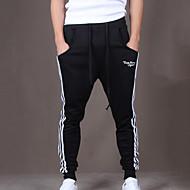 Muškarci Aktivan Pamuk Slim Aktivan Sportske hlače Hlače Prugasti uzorak