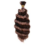 Gerçek Saç Hintli Saçı Gölgeli Saçlar Derin Dalga Saç uzatma 1 Parça Orta Kahve / Orta Auburn