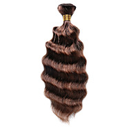 Echt haar Indiaas haar gemarkeerde Hair Diepe golf Haarextensions 1 Stuk Middenbruin / Medium Auburn