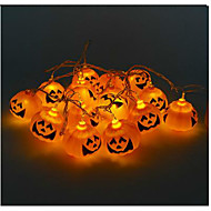 Halloween pompoen touwtje spook hoofd lampen LED verlichting bar 16 lamphouder