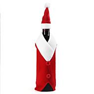 Christmas Wine Bottle Set Santa Claus Button Decor Bottle Cover Cap Clothes Kitchen Decoration for New Year Xmas