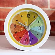 novo estilo rural fresco fruta limão despertador modernos relógios de mesa minimalista relógio relógio preguiçoso