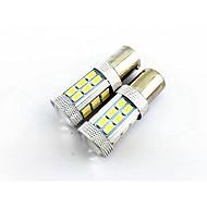 2個入り1156(ba15s)27 SMD 4ワット1500lm広い電圧車のライト、反転ランプ、テールランプ(10-24v)