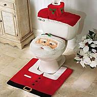 tampa de assento de flanela qualidade& tapete pé tanque de água almofada conjunto de toalha de banho de cobertura ornamento se Natal