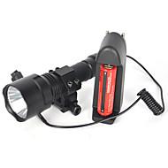 Lanterne LED Lanterne  Manuale LED 5000 Lumeni 1 Mod Cree XM-L T6 18650 Rezistent la apă Foarte luminos Camping/Cățărare/Speologie