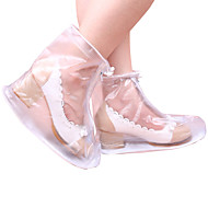 Plasitc Shoes Cover for Women High-heeled Rainy Day One Pair
