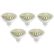 gu10 gx5.3 led spotlight mr16 60led smd 2835 500lm varm hvit kald hvit 2700k / 6500k dekorative