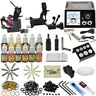 1 x støpejern tatoveringsmaskin til lining og skyggelegging / 1 x roterende tatoveringsmaskin til lining og skyggeleggingAnalog