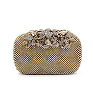 cheap Clutches & Evening Bags-Women's Bags Special Material Evening Bag Crystal / Rhinestone / Acrylic Jewels Solid Colored Black / Silver / Golden