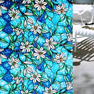 baratos Películas e Adesivos de Janela-Floral Moderna Película para Vidros, PVC/Vinil Material Decoração de janela Sala de Jantar Quarto Escritório Quarto das Crianças Sala de