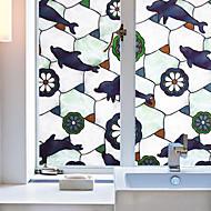 tanie -Wzór zwierzęcy Współczesny Folia okienna,PVC/Vinyl Materiał Dekoracja okna