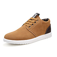 Heren Sneakers Comfortabel Vulcanized Shoes PU Lente Zomer Herfst Winter Causaal Comfortabel Vulcanized Shoes Veters Platte hak