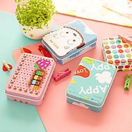 צבע רטרו קופסת אחסון שולחן בדיל מיני חמוד עבור ציוד משרדי (בצבעים אקראיים)
