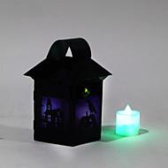 (Padrão é aleatório) 1pc dia das bruxas traje lanternas bruxas suportes do partido