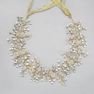 billiga Brudhuvudbonader-Kristall / Oäkta pärla / Bergkristall pannband med 1 Bröllop / Speciellt Tillfälle Hårbonad