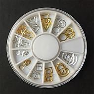 1 pcs Suggerimenti per le unghie artificiali Gioielli per unghie Progettato speciale / Fatto a Mano / Inodore manicure Manicure pedicure Quotidiano Metallico / Di tendenza