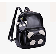 Unisex Bags PU Backpack for Casual Outdoor All Seasons Black