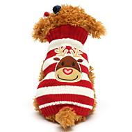 Χαμηλού Κόστους Χριστουγεννιάτικα κοστούμια για κατοικ-Γάτα Σκύλος Πουλόβερ Ρούχα για σκύλους Τάρανδος Μαύρο Κόκκινο Πράσινο Μπλε Βαμβάκι Στολές Για κατοικίδια Ανδρικά Γυναικεία Χαριτωμένο