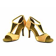 billige Sko til latindans-Kan spesialtilpasses-Dame-Dansesko-Latinamerikansk / Salsa-Sateng-Kustomisert hæl-Svart / Blå / Gul / Rosa / Lilla / Rød / Hvitt