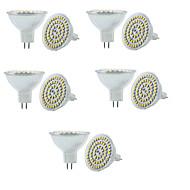 billige Spotlys med LED-3W GU5.3(MR16) LED-spotpærer MR16 60 SMD 3528 250-300 lm Varm hvit Kjølig hvit 3000/6000 K Mulighet for demping Dekorativ V