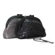 baratos Clutches & Bolsas de Noite-Mulheres Bolsas Acrílico / Metal Bolsa de Mão Metálico Sólido Preto / Cinzento
