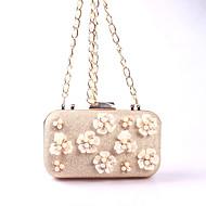 baratos Clutches & Bolsas de Noite-Mulheres Bolsas Courino Bolsa de Festa Miçangas / Pérolas / Pérolas Sintéticas Floral Ouro Rose