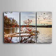 cheap Wall Clocks-Modern/Contemporary Canvas Rectangular Indoor,AA Wall Clock