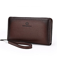 Men Bags All Seasons Cowhide Wallet for Casual Formal Professioanl Use Black Coffee Brown