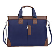 Men Bags Pigskin Nylon Briefcase for Casual Formal Outdoor Office & Career All Seasons Black Blue Khaki