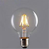 お買い得  LED電球-1個 6W 420 lm E26/E27 フィラメントタイプLED電球 G95 6 LEDの COB 装飾用 温白色 イエロー AC85-265V