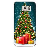 billiga Mobil cases & Skärmskydd-fodral Till Samsung Galaxy S7 edge / S7 Genomskinlig / Mönster Skal Jul Mjukt TPU för S7 edge plus / S7 edge / S7