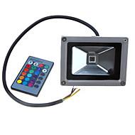baratos Focos-1pç 10 W Focos de LED Impermeável / Controlado remotamente / Regulável RGB 12 V Iluminação Externa / Pátio / Jardim