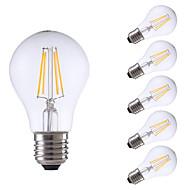 tanie Więcej Kupujesz, Więcej Oszczędzasz-GMY® 6szt 6W 806 lm E26/E27 Żarówka dekoracyjna LED A60(A19) 4 Diody lED COB Przysłonięcia Ciepła biel AC 220-240V