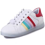 יוניסקס-נעלי ספורט-PU-נוחות נעליים לעריסה רצועת קרסול להאיר נעליים-לבן-שטח יומיומי ספורט-עקב שטוח